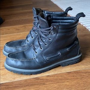 Sperry Black Leather high dress boots